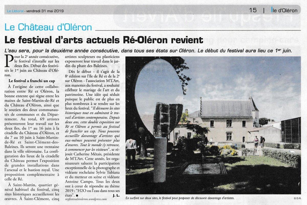 Le Festival d'Arts Actuels Ré Oléron revient Le Littoral de La Charente-Maritime, 31 mai 2019